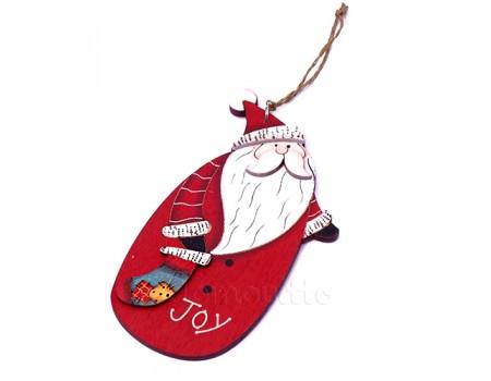 """Подвеска новогодняя большая """"Дед Мороз с носком"""", 14 см"""