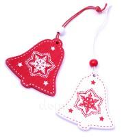 """Подвеска новогодняя """"Колокольчик"""", 5,5 см. Цвета: Красный, Белый"""