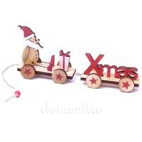 """Новогодняя игрушка из дерева """"Поезд Деда Мороза"""", 6 х 16 см"""