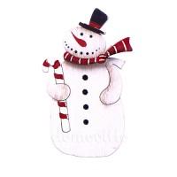 "Новогодний декор на прищепке ""Снеговик в шарфе"", 5 х 9 см"