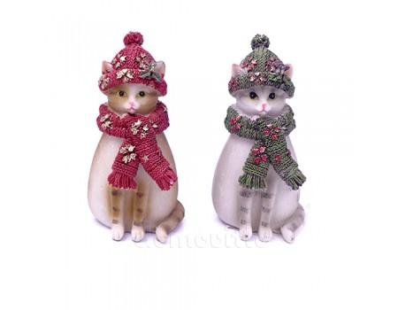 "Фигурка-сувенир ""Кошка новогодняя"", 5 х 9,5 см"
