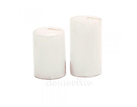 Свеча цилиндр белая d4 см, H60 мм / H70 мм