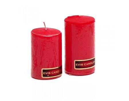 Свеча цилиндр красная d4 см, H60 мм / H70 мм