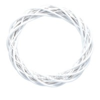 Плетеный венок из ивы, 55 см. Цвета: Серый, Белый