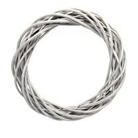 Плетеный венок из ивы, 45 см. Цвета: Серый, Белый