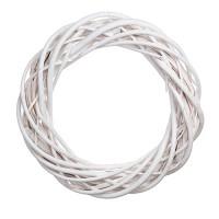 Плетеный венок из ивы, 25 см. Цвет: Белый