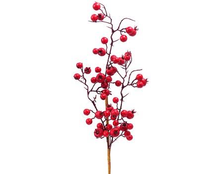Ветка с красными ягодами, 55 см