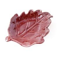 """Керамическое блюдо """"Осенний лист"""", 12х17 см. Разные цвета"""