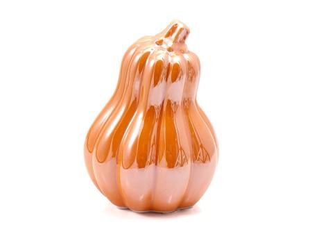 Фигурка тыквы керамическая, H12 см. Разные цвета