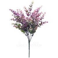 Кустик эвкалипта с лиловыми кончиками, 32 см