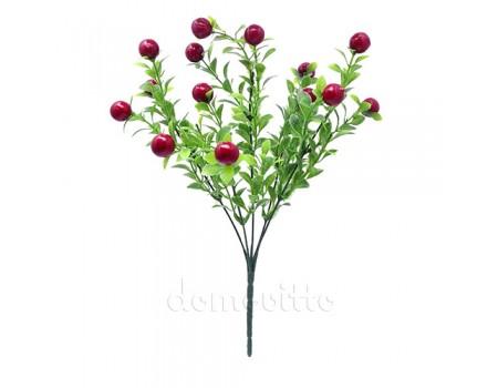Кустик искусственный с ягодами, 36 см