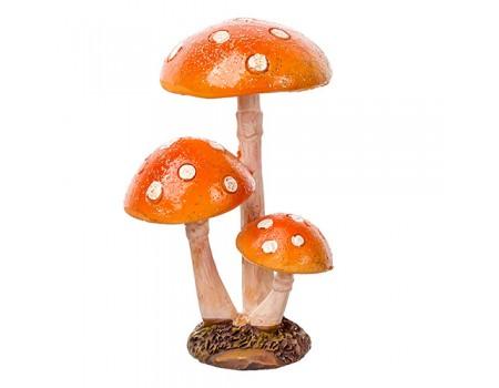 """Фигура """"Мухоморчики с блестками оранжевые"""", 8,5 см"""