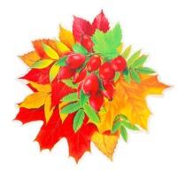 """Декор на стену """"Осенний букет с боярышником"""", 17,5х17 см"""
