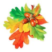 """Декор на стену """"Осенний букет с желудями"""", 18х20 см"""