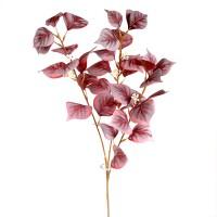 Ветка искусственная с бордовыми листьями, 80 см