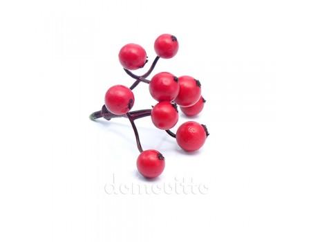 Вставка ягодная искусственная, d7хH6 см. Цвет: Красный