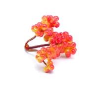 Веточка красно-желтых ягод тройная, 6 см