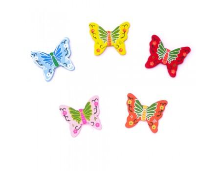 Бабочки из дерева на стикере, 3 см. Цена за 1 шт