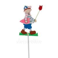 """Весенний декор на вставке """"Мальчик с тюльпаном"""", 7хh28 см"""
