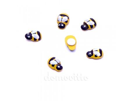 Пчелка на стикере 1,3 см, 6 шт