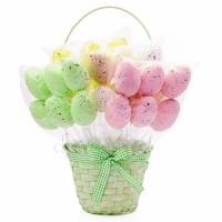 Пасхальные яйца на вставке 4х6 см, 6 шт. Разные цвета