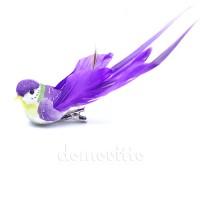 """Птичка на прищепке """"Фиолетовая малая"""", 11 см"""