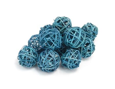 Набор плетеных шаров, диаметр 5 см, 12 шт. Цвет: Бирюзовый