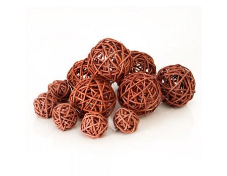 Плетеный шарик коричневый для декора d3 см / d5 см. Цена за 1 шт