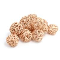 Набор плетеных шаров, диаметр 3 см, 12 шт. Цвет: Кофе с молоком