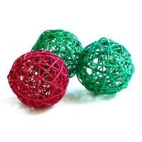 Плетеный шар крупный, диаметр 10 см. Цена за 1 шт