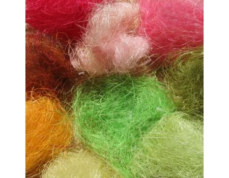 Сизаль, натуральное волокно, 80 гр. Разные цвета