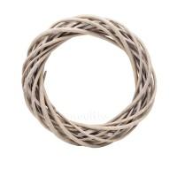 Плетеный венок из ивы, 20 см. Цвет: Серый (рустик)