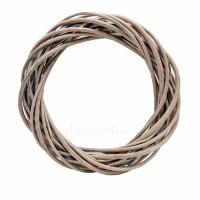 Плетеный венок из ивы, 25 см. Цвет: Серый (рустик)