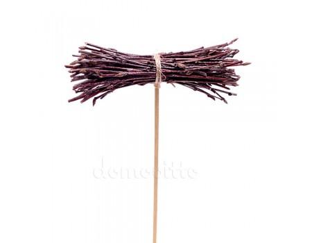 Вязанка березовых веточек на вставке, 20 см