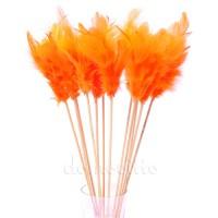 Перья на вставке, H30 см. Цвет: Оранжевый