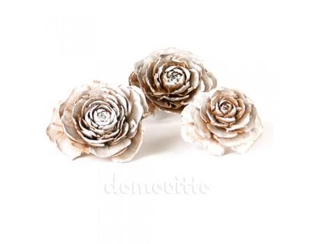 """Сухоцвет """"Кедровая роза"""" белый, 3 шт"""