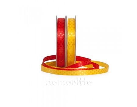 Атласная лента в горошек, 10 мм х 1 метр