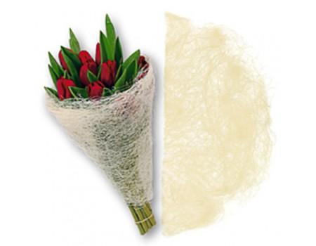 Конус для цветов из сизаля. Белый