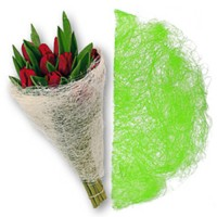 Конус для цветов из сизаля. Зеленый