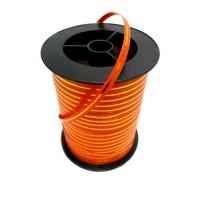 Лента оранжевая с золотой полосой 5 мм, 250 ярдов