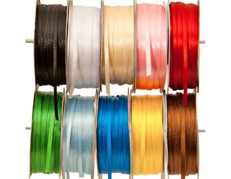 Лента атласная, ширина 3 мм х 1 метр. Разные цвета