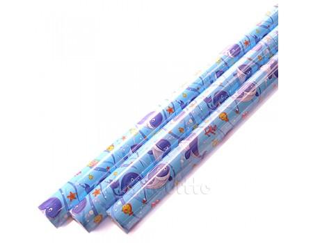 """Оберточная бумага """"Подводный мир"""" (70 см, рулон 10 м)"""