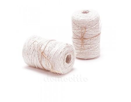 Шнур джутовый белый/натуральный 2 мм, 100 м