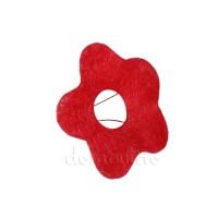 """Каркас из сизаля """"Цветок"""" d25 см. Красный"""