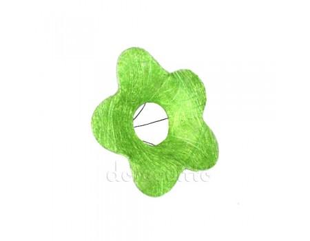 """Каркас из сизаля """"Цветок"""" d25 см. Зеленый"""