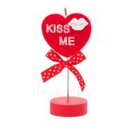 """Декоративная прищепка-сердце на ножке """"Kiss me"""""""