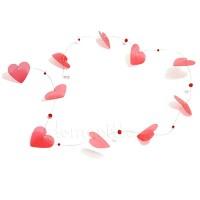 Гирлянда с сердечками на проволоке, 1 м