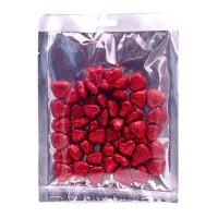 Набор красных сердечек с блестками, 2х2 см