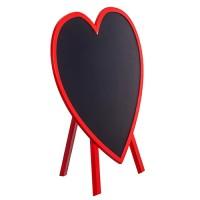 Сердце - грифельная доска на ножках, d33 см