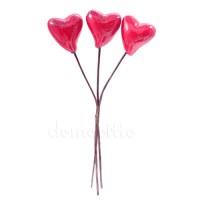 Набор лакированных сердечек на вставке 10 см, 3 шт